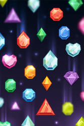 space crystals iphone wallpaper by MelissaReneePohl