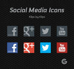 Free Social Media Icon set (PSD) Updated