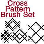 Cross Pattern Brushes by FairieChick