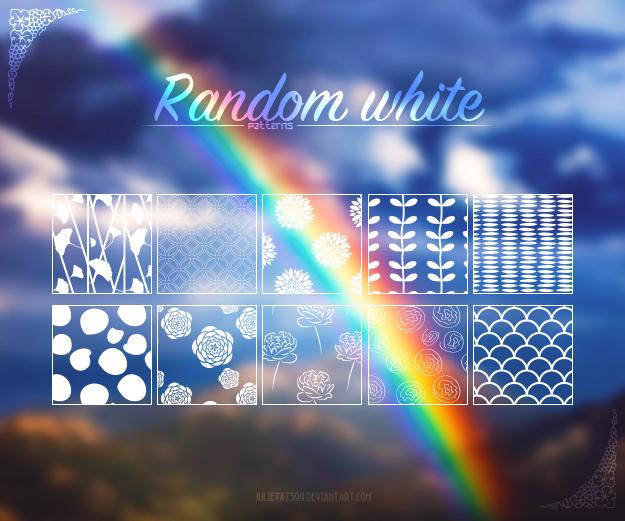 Random White {Patterns}