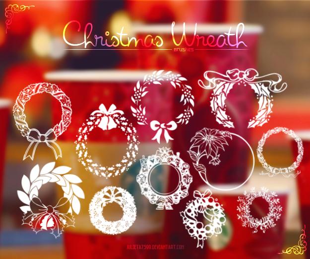 Christmas Wreath {Brushes}