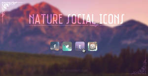Nature Social Icons {XWidget Skin}