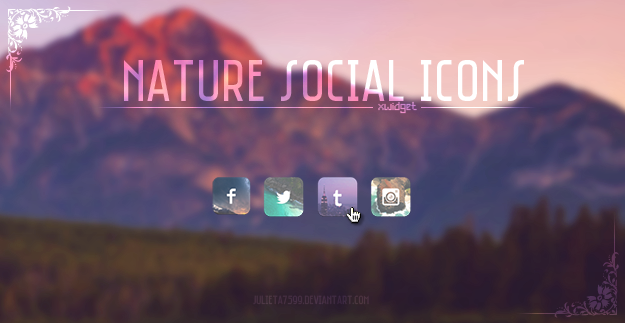 Nature Social Icons {XWidget Skin} by Julieta7599