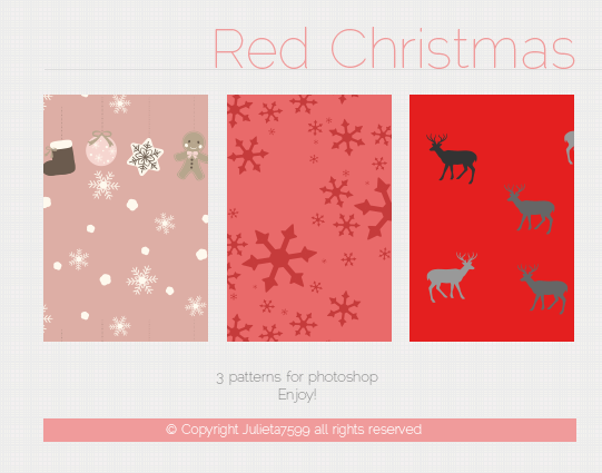 Red Christmas {Patterns}