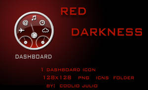 red darkness dashboard icon by cooliojulio
