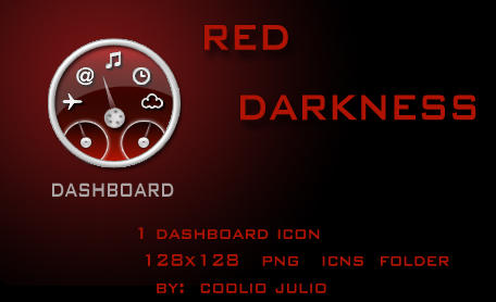 red darkness dashboard icon