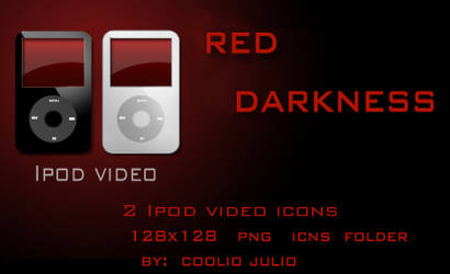 red darkness ipod video icons