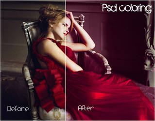 PSD Coloring -004 Red by imabitchsowhat