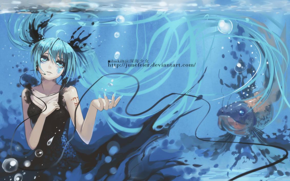 Hatsune miku deep sea girl live webcam