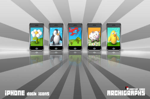 Archigraphs iPhone Dock Icons by Cyberella74