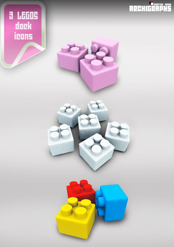 Archigraphs Lego Dock Icons by Cyberella74