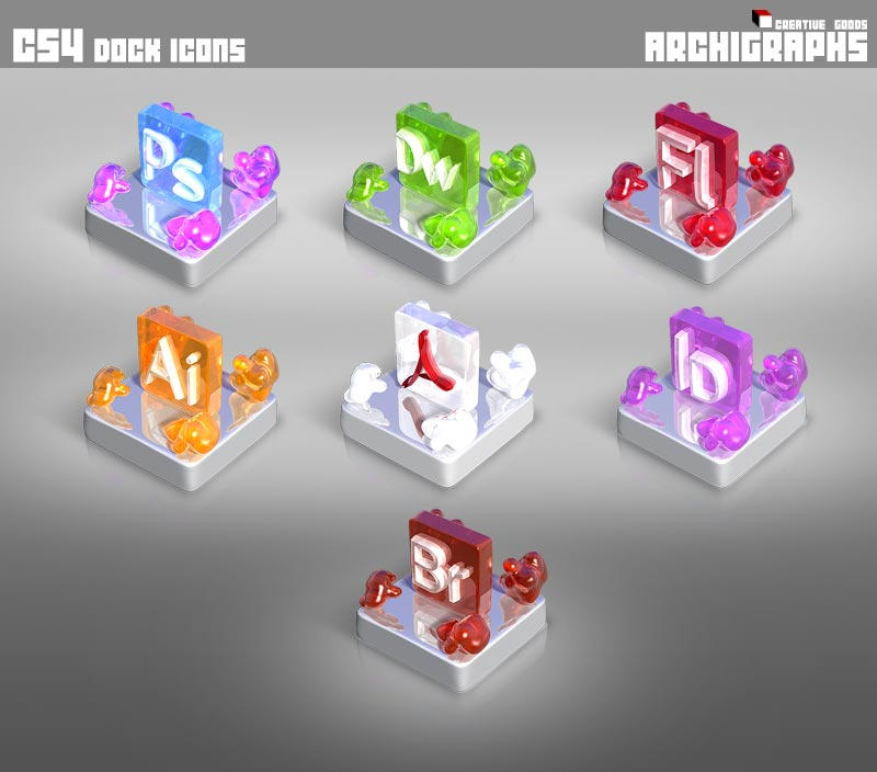 Archigraphs CS4 Dock Icons by Cyberella74