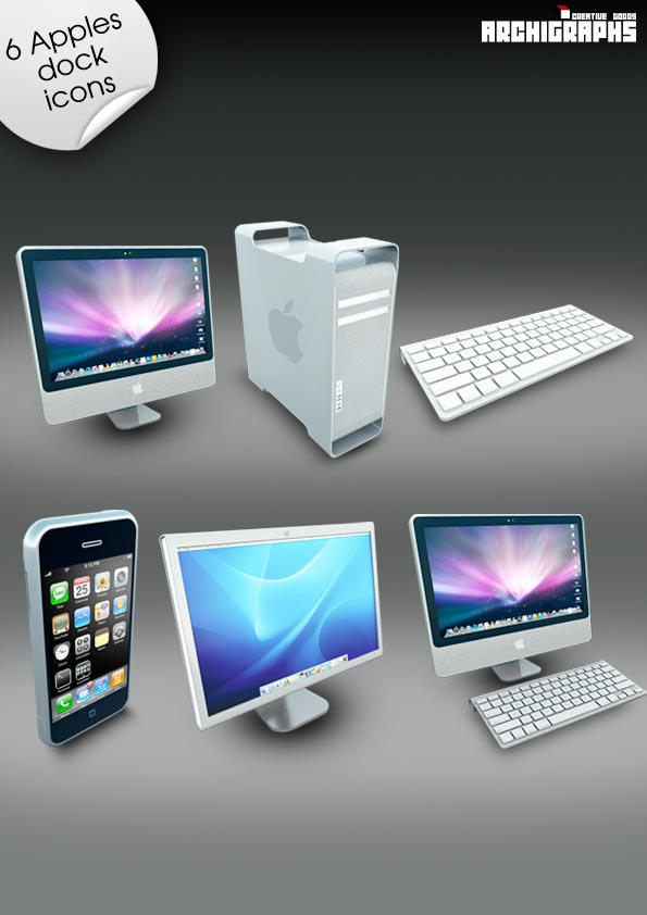 Archigraphs Apples Dock Icons by Cyberella74