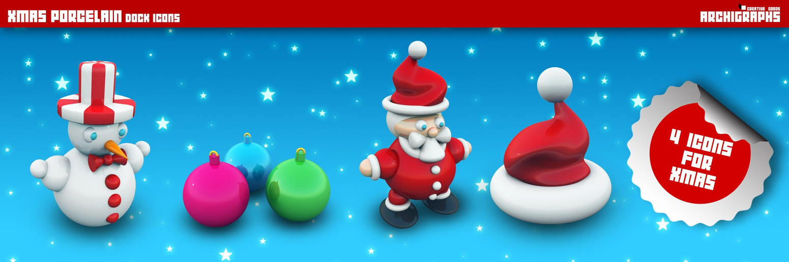 Archigraphs Xmas Icons by Cyberella74