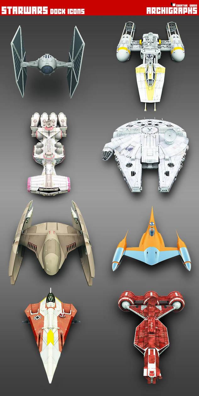 StarWars Vehicles Archigraphs by Cyberella74