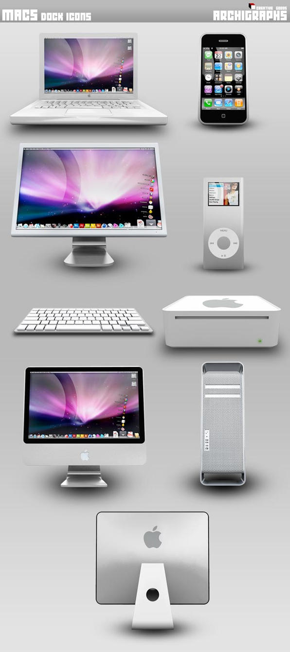 Archigraphs Macs Dock Icons by Cyberella74
