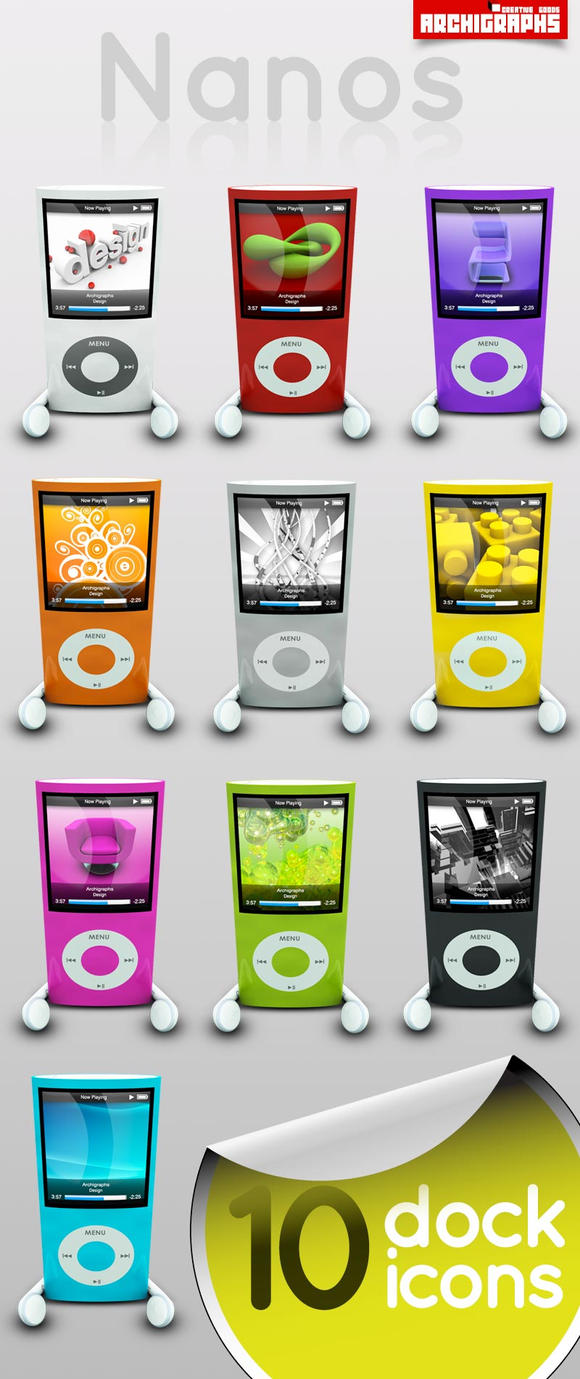 Archigraphs Nanos Icons by Cyberella74