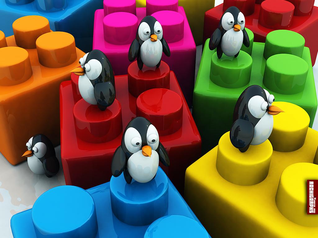 Archigraphs Penguins Wallpaper