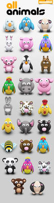 Archigraphs Animals Icons by Cyberella74