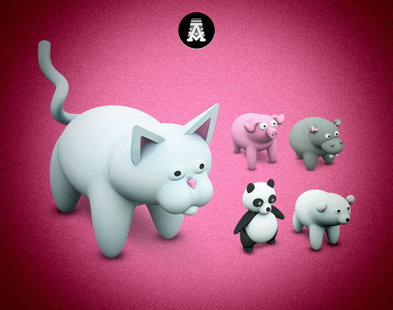 Archigraphs Cute Animals by Cyberella74