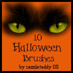 10 Halloween Brushes by Razzleteddy