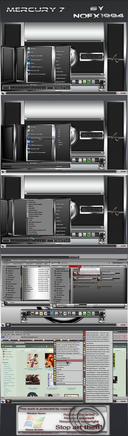 Mercury 7 windows 7 theme