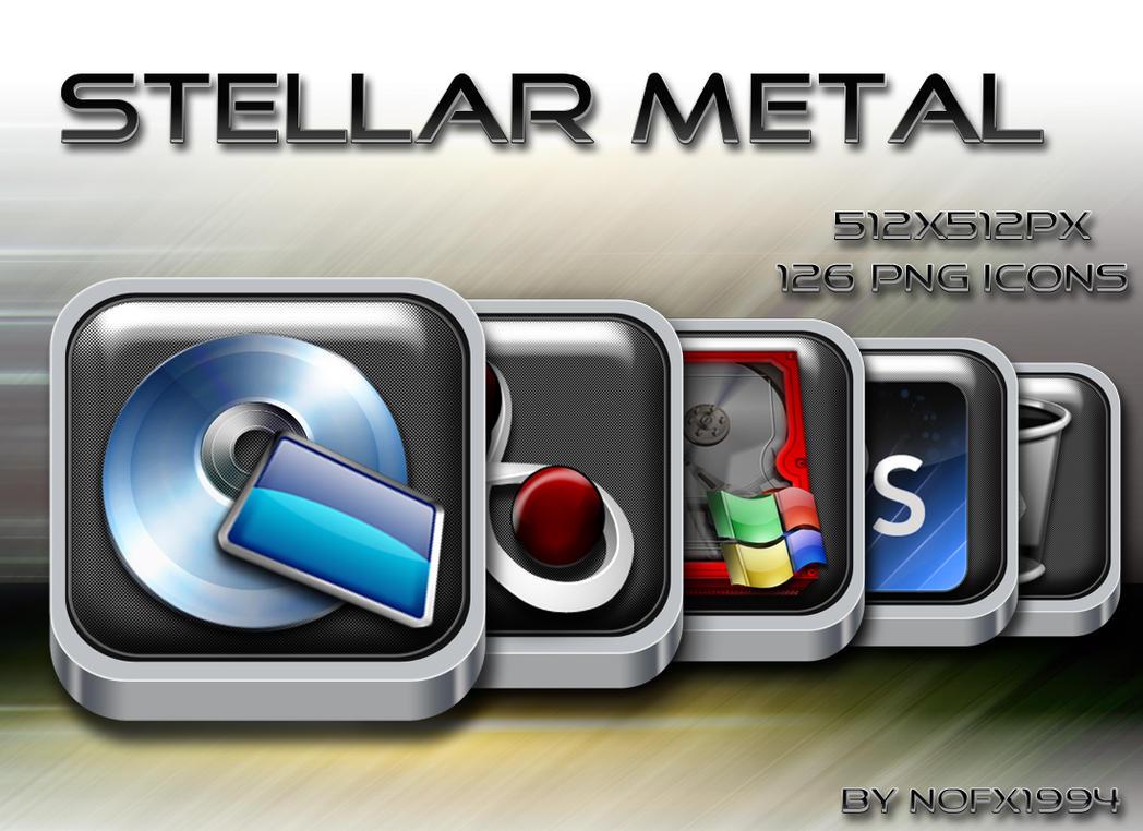 Stellar Metal Icon Set by nofx1994
