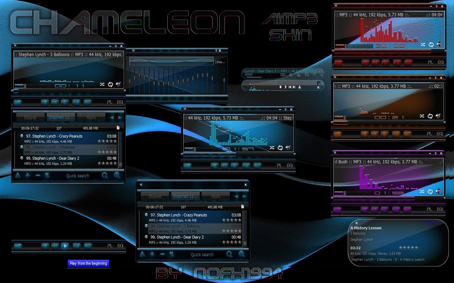 ... skins themes media players aimp here is my first skin for aimp 3 as