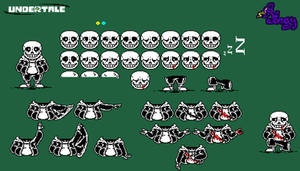 [Undertale] Sans sprite sheet