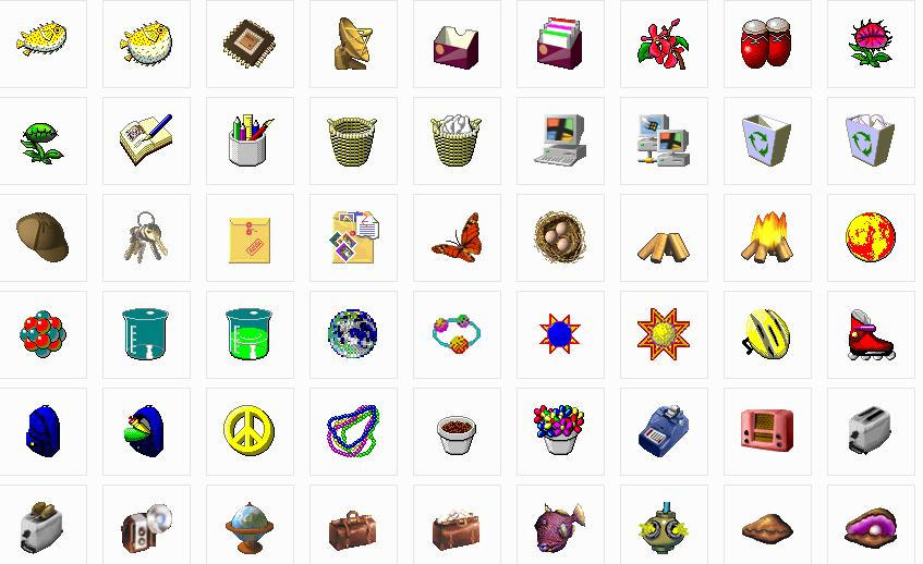 Image Gallery windows 98 icons