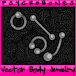 Vector Body Jewelry - 4 Pieces by psychobones