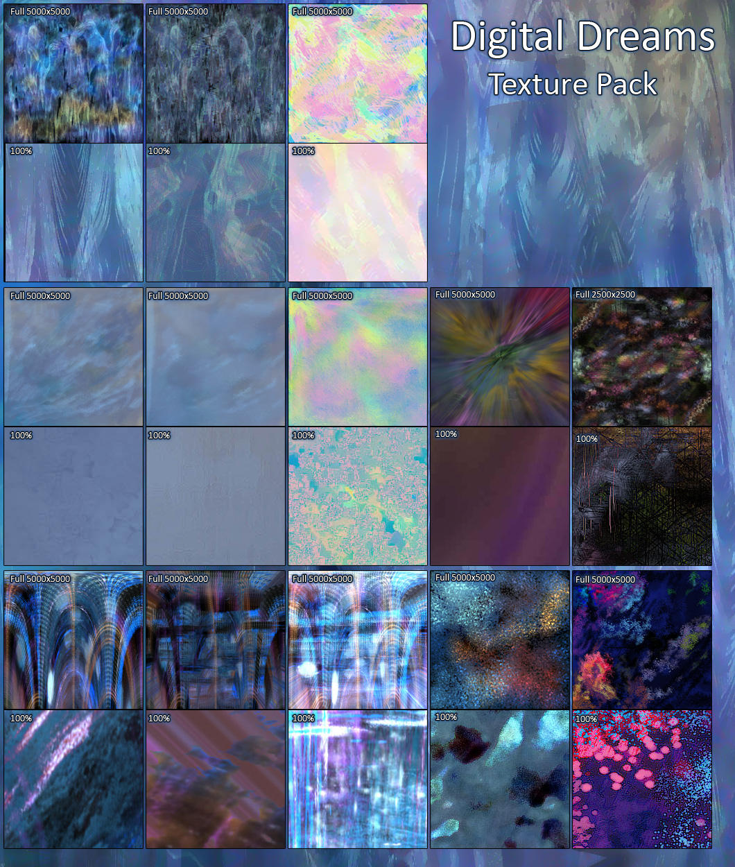Digital Dreams Texture Pack by El-Chupacabras