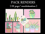 Pack Renders [plants]-oneclickandrea by andreakaisoo