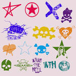 Avril Lavigne Logos - Photoshop Brushes by freaktheclown
