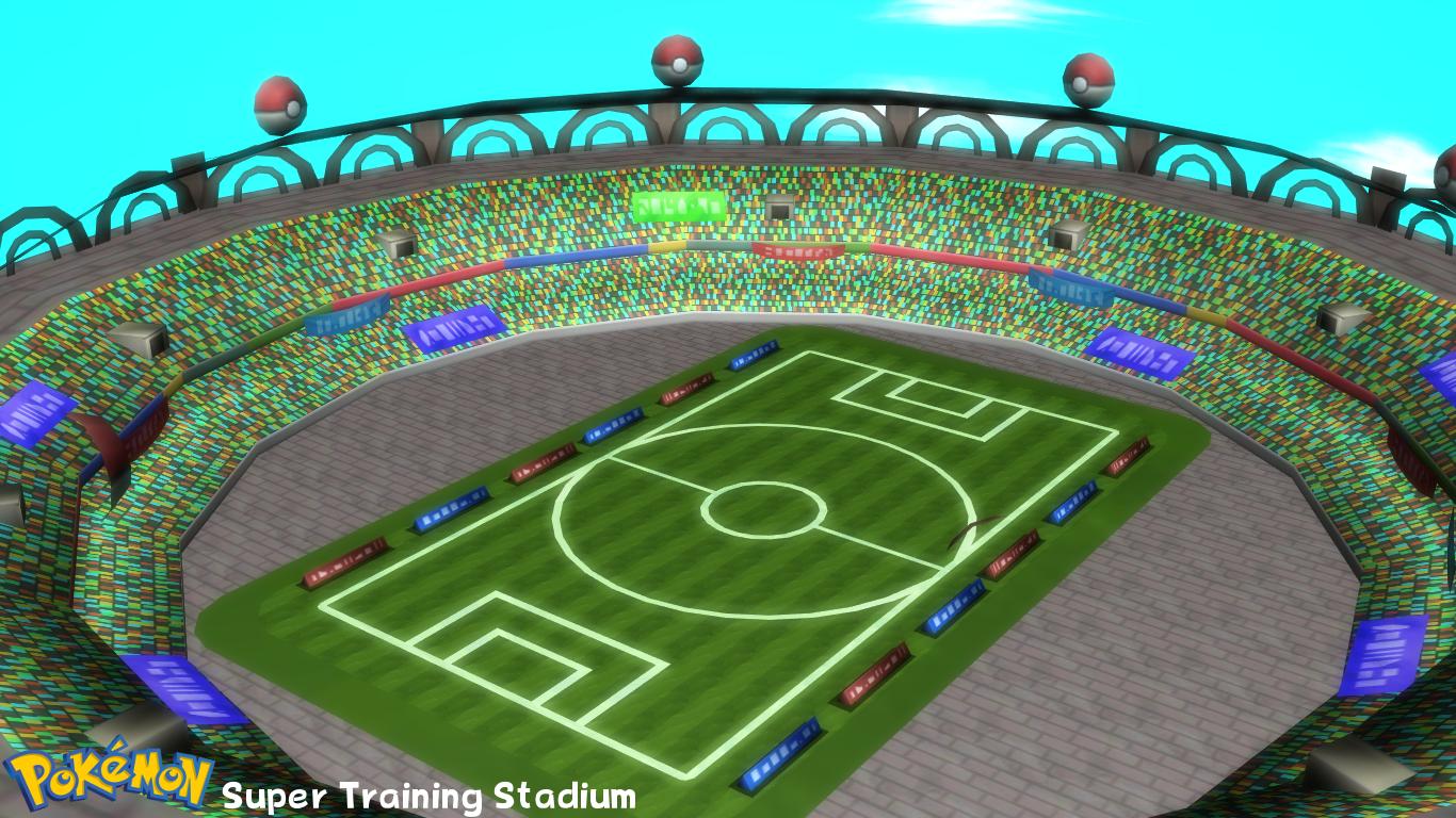 Pokemon Stadium Background (MMD Stage) Super Trai...