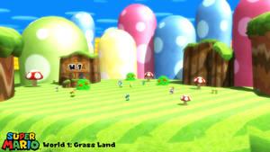 (MMD Stage) Grass Land (NSMBWii) Download
