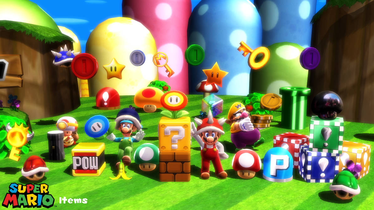 MMD Prop) Super Mario Items Download by SAB64 on DeviantArt
