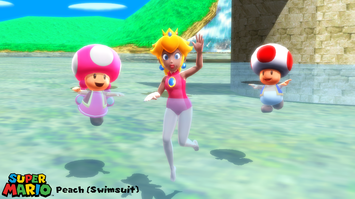 mmd model peach swimsuit download by sab64 on deviantart