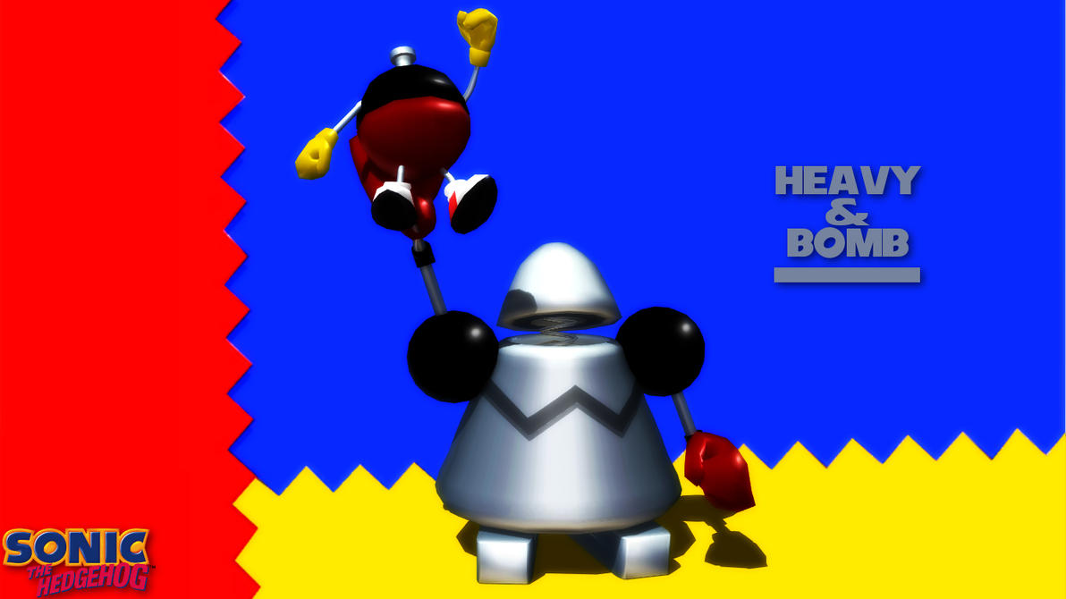 Knuckles Chaotix Heavy And Bomb