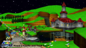 (MMD Stage) Peach's Castle (Super Mario Galaxy) DL by SAB64