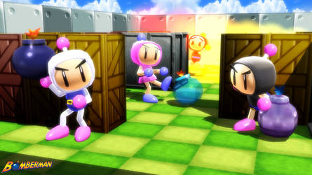(MMD Models and Stage) Bomberman Set Download