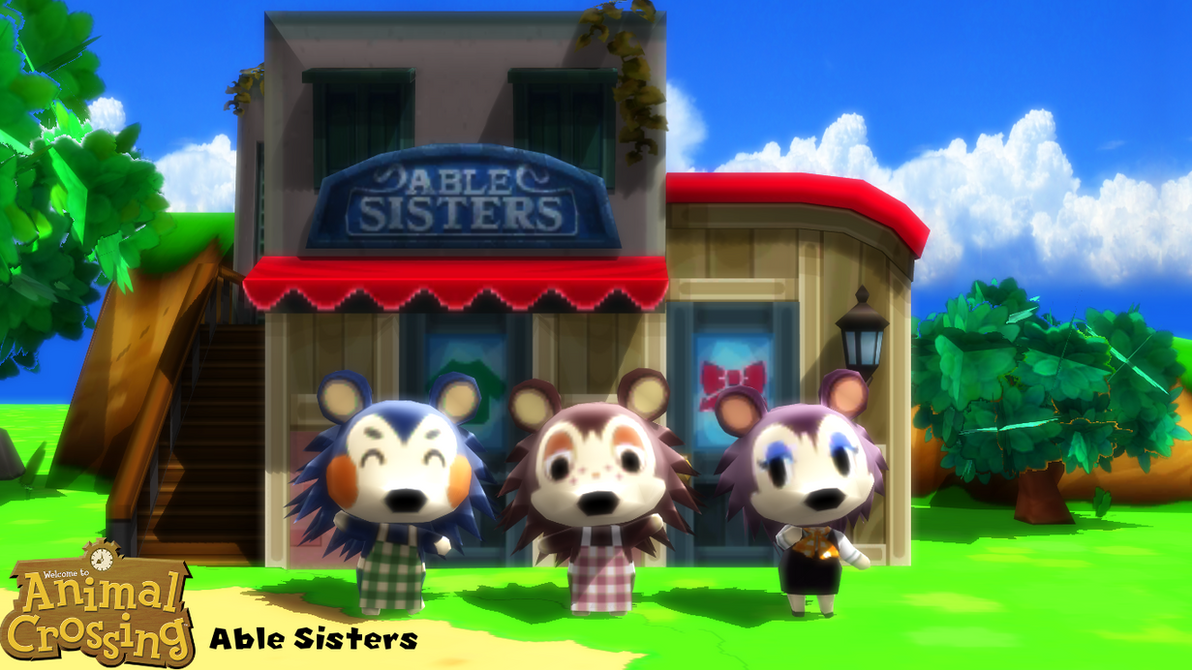 Image result for animal crossing able sisters