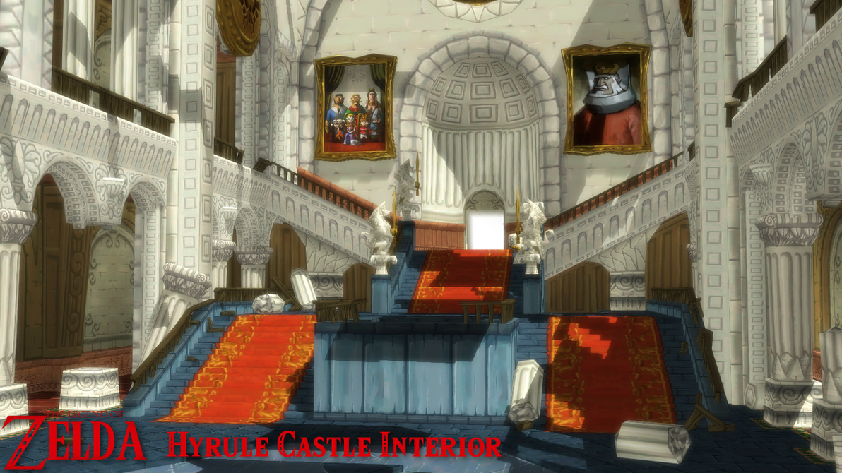 (MMD Stage) Hyrule Castle Interior Download By SAB64 ...