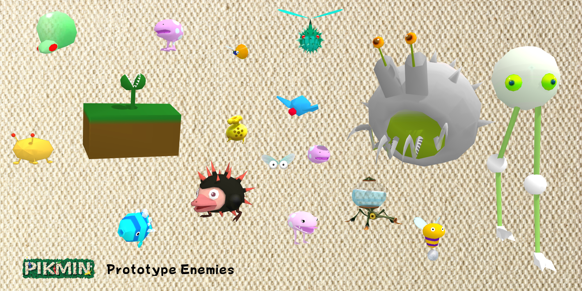 Mmd Dae Model Prototype Hey Pikmin Enemies Dl By Sab64 On Deviantart