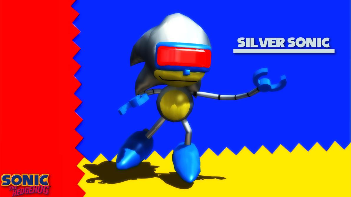 (MMD/FBX Model) Silver Sonic (Badnik) Download by SAB64