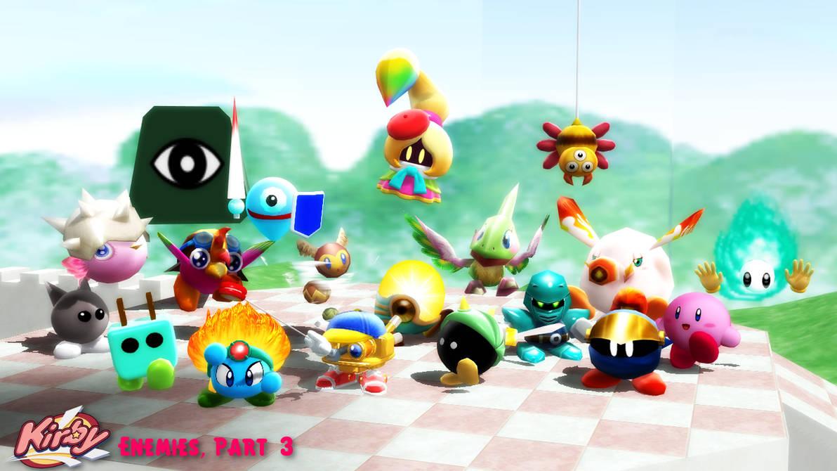 MMD/FBX Models) Kirby Enemies, Part 3 Download by SAB64 on DeviantArt