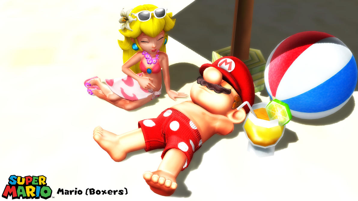 (MMD/XPS Model) Mario (Boxers) Download by SAB64
