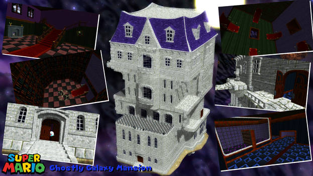 (MMD/XPS Stage) Ghostly Galaxy Mansion Download by SAB64