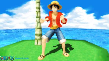 (MMD Model) Monkey D. Luffy (Post-Time Skip) DL by SAB64