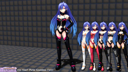 (MMD Model) Iris Heart Plutia (Goddess Form) DL by SAB64